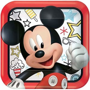 American Greetings Mickey Mouse Party Supplies, Paper Dinner Plates, 8-Count for $20