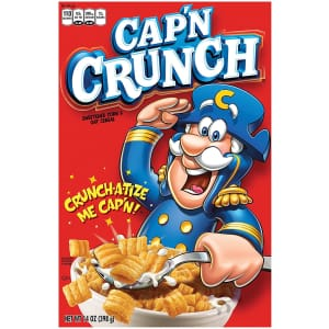 Cap'n Crunch Breakfast Cereal 14-oz. Box 4-Pack for $7.24 via Sub & Save