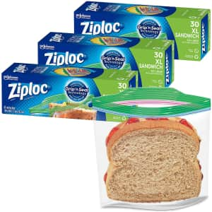 Ziploc Sandwich and Snack Bags 90-Count for $7.17 via Sub & Save