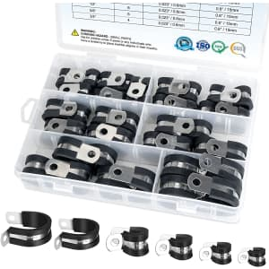 Ticonn 42-Piece Cable Clamp Set for $10