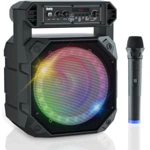 Raddy Portable Karaoke Machine w/ Wireless Microphone for $50
