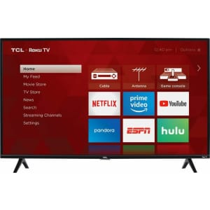 """TCL 3-Series 40S325 40"""" 1080p LED HD Roku Smart TV for $230"""