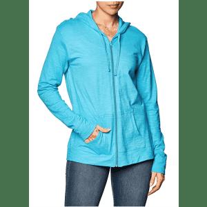Hanes Women's Jersey Full Zip Hoodie for $8