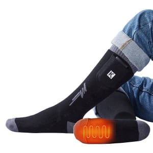 Kemimoto Remote Control Rechargeable Heated Socks for $42