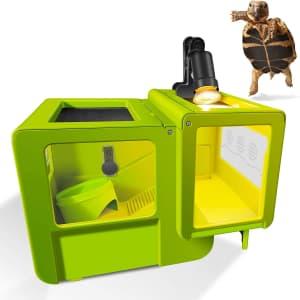 Neptonion Turtle Tank Reptile Terrarium w/ Heating Lamp for $43