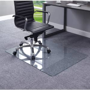 """Lorell 36"""" Tempered Glass Chair Mat for $50"""