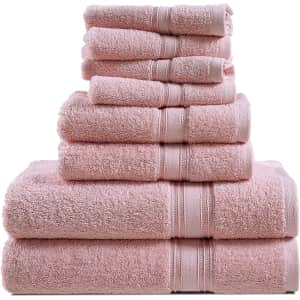 Chateau Home Collection 8-Piece Towel Set for $26