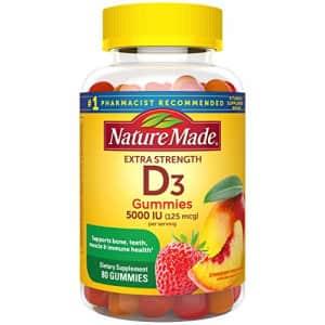 Nature Made Vitamin D3 125 mcg (5000 IU) Gummies, 80 Count for Bone Health for $31
