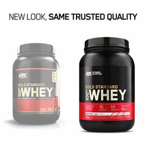 Optimum Nutrition Gold Standard 100% Whey Protein Powder, Birthday Cake, 2 Pound (Packaging May for $30