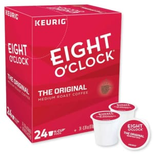Eight O'Clock Coffee K-Cup Pod 24-Pack for $11