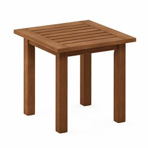Furinno FG18506 Tioman Hardwood Patio Furniture Outdoor End Table, Natural for $52