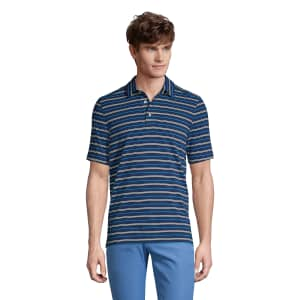 Lands' End Mens Traditional Fit Performance Polo for $10