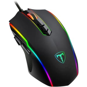 Eioniy Wired RGB PC Gaming Mouse for $6