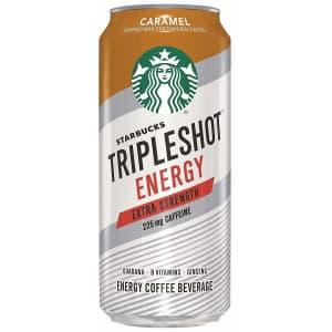 Starbucks Tripleshot Energy 15-oz. Extra Strength Coffee 12-Pack for $20 w/ Prime