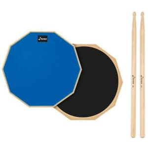 """Donner 12"""" Practice Pad and Drumsticks for $15"""