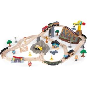 KidKraft 61-Piece Bucket Top Construction Train Set for $100