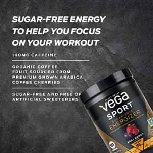Vega Sport Sugar Free Energizer, Strawberry Lemonade - Vegan Certified, Keto-Friendly, Gluten Free, for $24