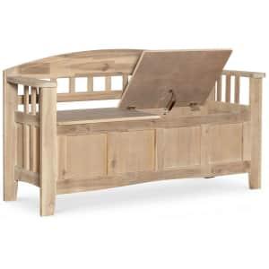 "Linon Home Decor Iris 52"" Acacia Wood Storage Bench for $153"