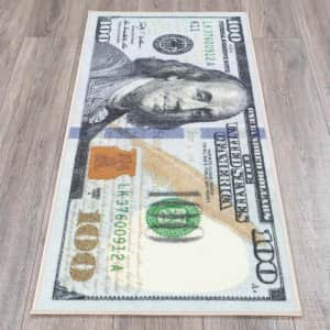 """Ottomanson Siesta Collection One Hundred Dollar Bill 22"""" x 53"""" Rug for $14"""