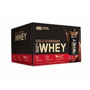 Optimum Nutrition Gold Standard 100% Whey Protein Shake, Ready to Drink, Gluten Free, 24g Protein, for $50