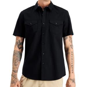 Sun + Stone Men's Austin Regular-Fit Western Shirt for $12