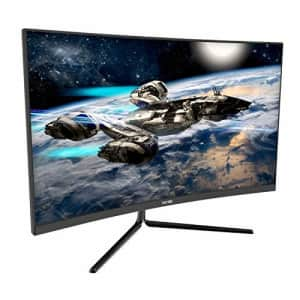 VIOTEK GNV27DB 27-Inch Curved QHD Gaming Monitor | 144Hz 2560x1440p 4.8ms (OD) | 1500R Curvature, for $250