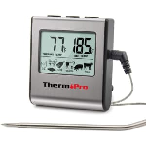 ThermoPro Large LCD Cooking Thermometer for $19