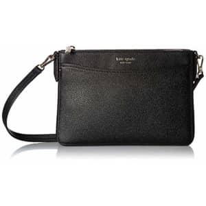 Kate Spade New York Women's Margaux Medium Convertible Crossbody Bag, Black, One Size for $168