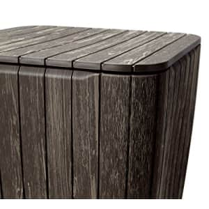 KETER Resin Luzon Outdoor Table with Extra Hidden Storage for Cushions and Patio Decor, Brown Wood for $59