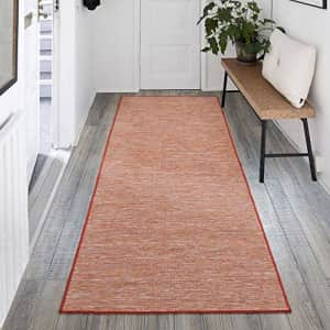 """Ottomanson Sundance Collection Reversible Indoor & Outdoor Solid Design Runner Rug, 2'7"""" x 7', for $31"""