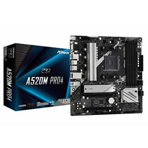 ASRock A520M Pro4 AMD Ryzen 3000/4000 Series (Soket AM4) Compatible with A520 Chipset, Micro ATX for $111