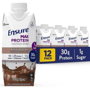 Ensure Max Protein 11-oz. Nutritional Shake 12-Pack for $17 via Sub & Save