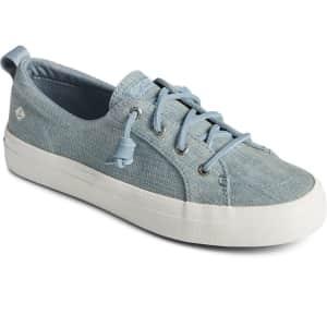 Sperry Women's Crest Denim Sneakers for $34
