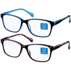 K Kenzhou Blue Light Blocking Computer Glasses 2-Pack for $15