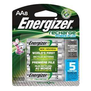 Energizer Recharge Power Plus AA8 2300 mAh, 8 Rechargable Batteries for $20