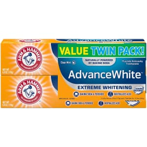 Arm & Hammer Advance White Toothpaste 2-Pack for $5