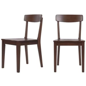 StyleWell Saskia Solid Wood Dining Chair 2-Pack for $90