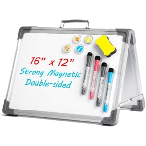Uho Double-Sided Portable Magnetic Whiteboard for $11