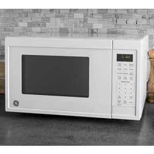 GE Appliances JES1095DMWW GE 0.9 Cu. Ft. Capacity Countertop Microwave Oven, White for $104
