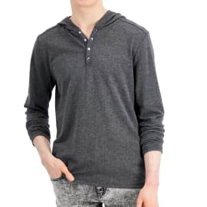 INC Men's Jacquard Ribbed Hoodie for $11