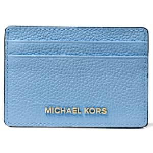 Michael Kors Pebble Leather Card Holder for $22