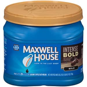 Maxwell House Intense Bold Dark Roast Ground Coffee (26.7 oz Canister) for $6