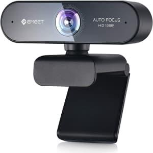 eMeet Nova 1080p Autofocus Webcam with Microphone for $24