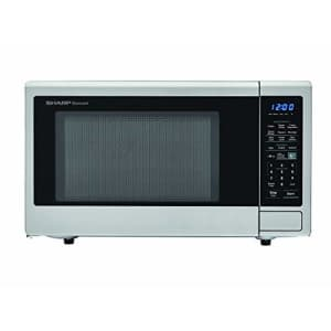 SHARP ZSMC1442CS Carousel 1.4 Cu. Ft. 1000W Countertop Microwave Oven with Orville Redenbachers for $111