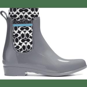 Coach Women's Rivington Waterproof Chelsea Rain Boots for $57