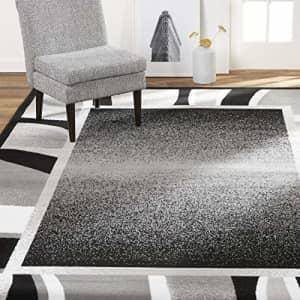 "Home Dynamix Lyndhurst Rotana Modern Area Rug, Contemporary Black/Gray 3'7""x5'2"" for $16"