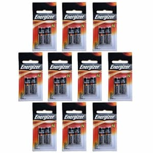 10x Energizer E90-BP-2 N 1.5V Alkaline Batteries Replaces DRY1390, DURMN9100B2, E90, EVRE90BP2, for $20