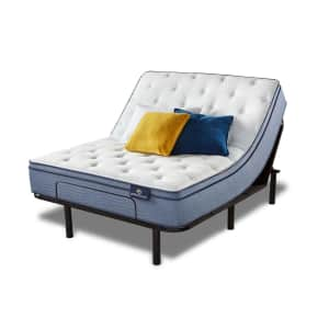 Serta Perfect Sleeper Ashbrook 2.0 Eurotop Queen Mattress + Motion Essentials IV Adjustable Base Set for $1,078 for members