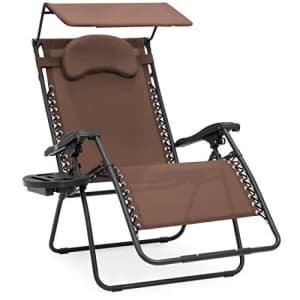 Best Choice Products Oversized Steel Mesh Zero Gravity Reclining Lounge Patio Chair w/Folding for $138