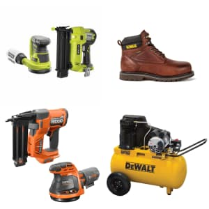 Nailers, Air Compressors, and Workwear at Home Depot: Up to $150 off